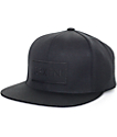 Brixton Rift Jet Black Snapback Hat
