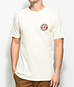 Brixton Rival II Off White T-Shirt