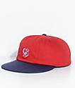 Brixton Snider Red & Navy Strapback Hat
