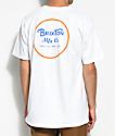 Brixton Wheeler II White & Orange Blaze T-Shirt