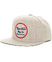Brixton Wheeler Light Grey Snapback Hat