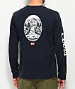 Brixton x Coors Banquet Filtered Navy Long Sleeve T-Shirt