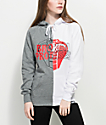 Broken Promises Cobra Split Grey & White Hoodie