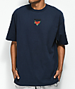 Broken Promises Trio Embroidered Navy T-Shirt
