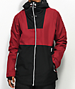 CLWR Block Burgundy & Black 10K Snowboard Jacket