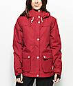 CLWR Ida Burgundy 10K Snowboard Jacket