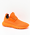 CU4TRO Bolt Caution Orange Knit Shoes