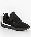 CU4TRO Striker Black Knit Shoes