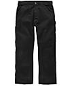 Carhartt Washed Twill Black Dungaree Pants