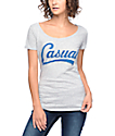 Casual Industrees Downtown Script Heather Grey T-Shirt