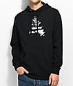 Casual Industrees WA Johnny Tree Above Clouds Black Hoodie