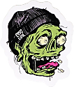 Casual Industrees Zombie Cough Sticker