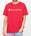 Champion GT19 Patriotic Script Team Red T-Shirt