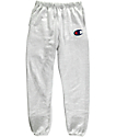 Champion Large C Reverse Weave Banded Bottom Silver & Grey Sweatpants