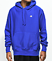 Champion Reverse Weave Surf The Web Blue Hoodie