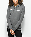 Champion Script Charcoal Hoodie
