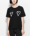 Cheap Monday Breeze Double Love Black T-Shirt