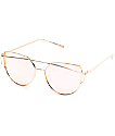 Chester Rose Gold Revo Metal Sunglasses