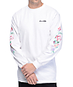 Chocolate Floral Chunk White Long Sleeve T-Shirt