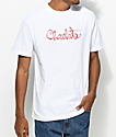 Chocolate Original Script White T-Shirt