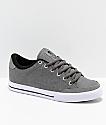 Circa Lopez 50 Charcoal & White Skate Shoes