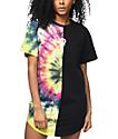 Civil Baddies Tour Tie Dye Split Seam Drop T-Shirt