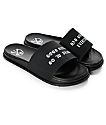 Civil Girls Go To Heaven Black Slide Sandals