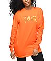 Civil Savage Orange Long Sleeve T-Shirt
