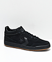 Converse Fastbreak Court Al Davis Black & Gum Skate Shoes