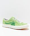 Converse x Golf Wang One Star Le Fleur Jade Lime Shoes