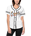 Crooks & Castles Cabana White Baseball Jersey
