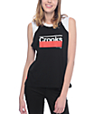 Crooks & Castles Legrand Black & Red Raglan Tank Top