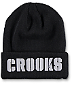 Crooks & Castles Stencil Black Beanie
