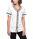 Crooks & Castles White & Gold Baseball Jersey