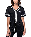 Crooks & Castles Black & White Baseball Jersey