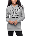 Crooks & Castles Double Trouble Grey Hoodie