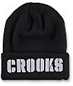 Crooks & Castles Stencil Black Beanie