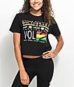 Cross Colours Hip Hop Dictionary Black Crop T-Shirt