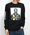 Cross Colours Snoop Mug Black Long Sleeve T-Shirt