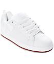 DC Court Graffik White, White & Gum Skate Shoes
