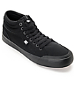 DC Evan Smith Hi All Black Skate Shoes