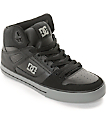 DC Spartan High WC Black & Grey Skate Shoes