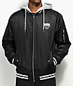 DGK Attack Black & White Bomber Jacket