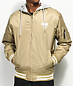DGK Attack Khaki & White Bomber Jacket