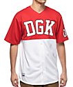 DGK Bullpen Red & White Baseball Jersey