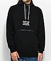 DGK Tackle Half Zip Black Hoodie