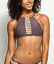 Damsel Bali Purple Crochet High Neck Bikini Top