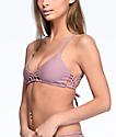 Damsel Macrame Rose Mauve Triangle Bikini Top
