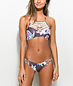 Damsel Purple Floral Super Cheeky Bikini Bottom