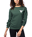 Dark Seas Blue Sunday Forest Green Long Sleeve T-Shirt